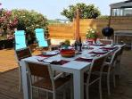 Outdoor dining is possible 8-10 months a year!