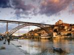 Dom Luis I Bridge, Ribeira area and Douro River - 850m - 9 min walk