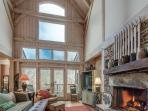 Living Room w/ wood fireplace