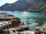 Cala Figuera, a virgin beach