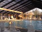 Heated indoor pool close by