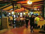 Beach front resort restaurant