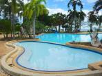 Water slider in the big pool