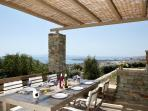 Outdoor Dining Area | Diles & Rinies Estate | Villas in Tinos