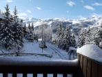 Over the Meribel valley.from the balcony