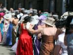 Once a year Helston has Flora Day, a traditional festival including street plays and the Furry Dance