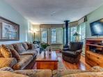Living Room - Wood Fireplace