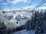 Vanoise Express cable car - links La Plagne with Les Arcs - just one lift away
