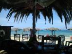 Melike's fab taverna on the beach near Stavros.