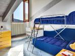 This can be used as a single bed, or a mechanism used to create bunk beds for two.
