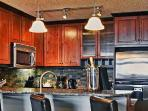 Spectacular gourmet kitchen with stainless steel appliances