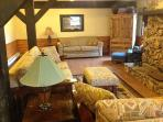 Game room with sleeper sofa
