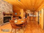Heavenly Creekside #276- Living Room with Fireplace