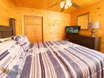 Heavenly Creekside #276- Bedroom with Flat Screen TV