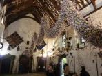 Cotehele's famous garland at Christmas