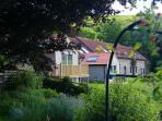 View of the cottages from the garden