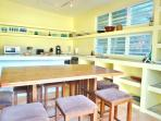 Plenty of room for cooks, assistants and spectators.