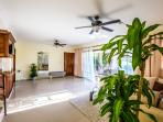 Cieling fans in the large and spacious living area makes it so home like!