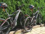 E-Bikes free using four our guest`s