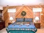 Master Bedroom, King Bed, spacious with adjoining Bathroom.