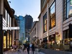Overview of Akasaka center and TBS tower, 4 - 5 minutes walk from the apartment.