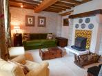 Lounge with operative fireplace