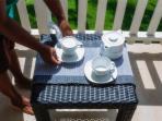 Tea on the balcony