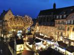 The christmas markets are just a few minutes away