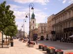 Krakowskie Przedmiescie where it meets Bednarska street.