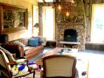 Snuggle up with your wine and enjoy the Valley View. Rustic but with all the designer trappings
