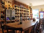 Local cheese and wine tasting