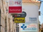 Okrug Gornji with post office, atm's, pharmacy, doctor etc.