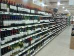 Wide selection of beer, wine and liquor in Playero.