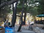 Park, restaurant and playground in Mlini