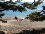 Pebble beach in Mlini - 5 min walking from our house