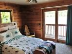 2 bedrooms, pull-out TV room couch. Cabin sleeps 6
