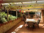 Lovely outdoor pergola area with BBQ