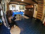 dining room/living/under mezzanine