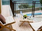 The apartment is located directly overlooking the pool