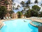 Maui Kai Cabana Area with Heated Pool and Spa