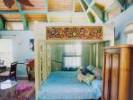 Another option for this room is a King Canopy bed sleeps 2-4 this way