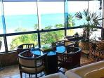 Balcony overlooking the sea.  Nature and Ocean.