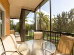 Large Balcony accessed from the lounge and overlooking wildlife pond