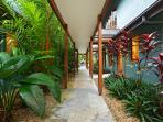 Central Walkway from Front Entrance, heading towards Swimming Pool