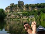 Canoeing on the local rivers in Dordogne!