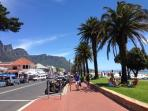 Victoria Road, Camps Bay is an easy and enjoyable  10 minute walk