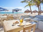 This is our beach where always available breakfast