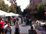 moring market on pedestrian street