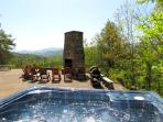 Stunning mountain view from your hot tub!!