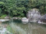 Splash around in the nearby river